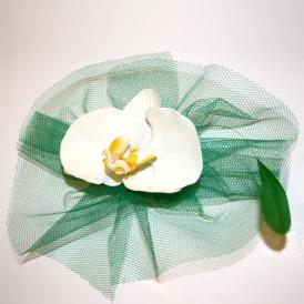 Airelle - Orchidée et vert