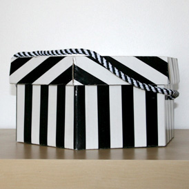 Boîte rayée 28cm