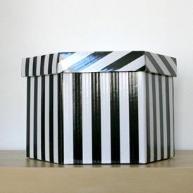 Boîte rayée 33cm