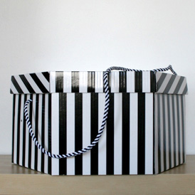 Boîte rayée 48cm
