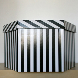 Boîte rayée 54cm