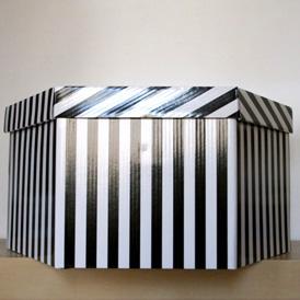 Boîte rayée 60cm