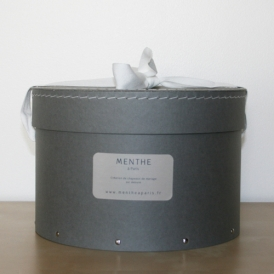 Boîte ronde grise 26cm