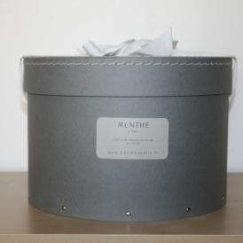 Boîte ronde grise 28cm