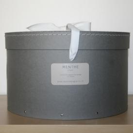 Boîte ronde grise 34cm