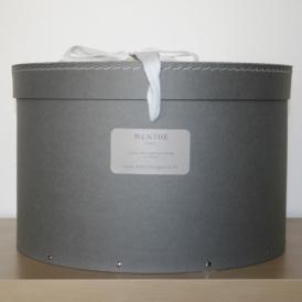 Boîte ronde grise 35cm