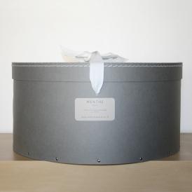 Boîte ronde grise 44cm