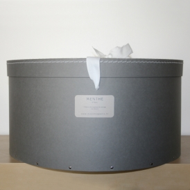 Boîte ronde grise 48cm
