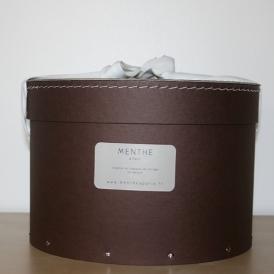 Boîte ronde marron 28cm