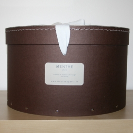 Boîte ronde marron 34cm