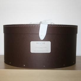 Boîte ronde marron 40cm