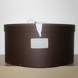 Boîte ronde marron 44cm