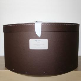 Boîte ronde marron 48cm